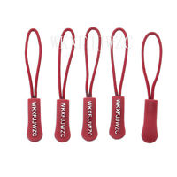 Outdoor Zipper Pull Cord Zip Puller Zip Fastener Zip Slider Red Lot of 10