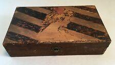 vintage Gibson Girl Pyrography Burnt Wood BOX
