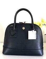 NWT Anne Klein Bag Large Dome Billie Satchel Handbag Purse Black MSRP $128