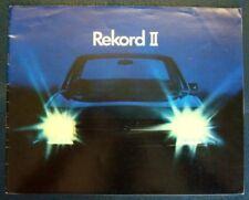 OPEL REKORD II CAR SALES BROCHURE C 1974.