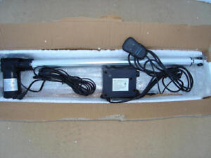 600mm stroke linear actuator with manual control box.