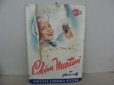 CARTELLO INSEGNA PUBBLICITARIA CHINA MARTINI 1950 PUBBLICITA' SALA EPOCA OLD