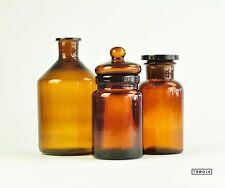 Apothekengläser Apothekenglas Apothekenflasche Set Braunglas Dachbodenfund alt