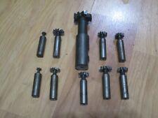 10 Good Used Woodruff Keyway Key Seat Cutters Machine Cutting Tools Usa Lot H