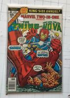 Marvel Two-in-One Annual #3 Thing Nova Monitors Marv Wolfman Sal Buscema 1978 !!
