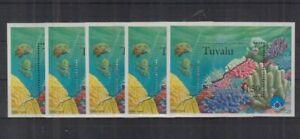 W464. 5x Tuvalu - MNH - Marine Life