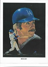 Union Oil Ron Cey of the Los Angeles Dodgers Print by Nicholas Volpe 1982