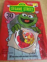 Vintage 1985 Sesame Street Muppets Cookie Monster Valentines Day Cards Sealed