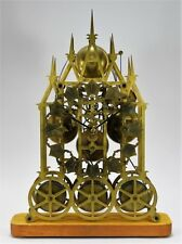 Victorian Gothic Brass Triple Fusee Skeleton Clock Lot 272
