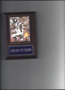 ADRIAN PETERSON PLAQUE MINNESOTA VIKINGS FOOTBALL NFL