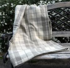 Luxurious 100% LINEN Natural THROW Blanket Coverlet - 100% leinen Tagesdecke
