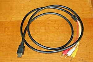 HDMI Male S-video to 3 RCA 1080p AV Audio Cable W/SCART To 3 RCA Phono Adapter