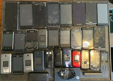 New listing Lot Of 28 Cell Phones. w/ Cables, & Charging Blocks (See Pics) For Salvage Parts