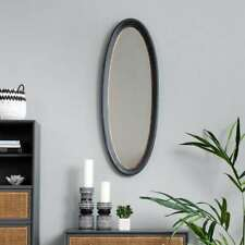 Brissi London Ltd Portland Oval Mirror Charcoal and Gold £299.
