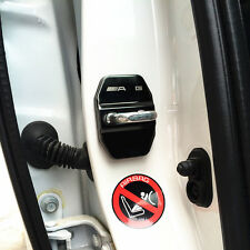 AMG logo Schwarz Edelstahl-Car Türschlösser Schutzabdeckung Für Benz B C E S CLA