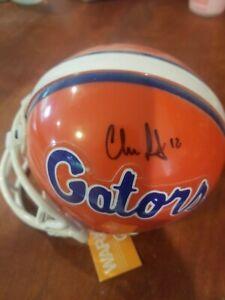 Chris Leak signed Auto Florida Gators Riddell mini helmet
