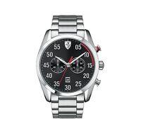 Men's Scuderia Ferrari D50 Race 830176 Chronograph Black Dial S Steel Watch