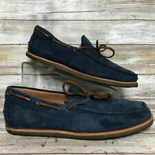 51b9cb14533 New Republic By Mark McNairy 11M Boat Shoe Loafers Blue Suede Moc Toe Gum  Soles