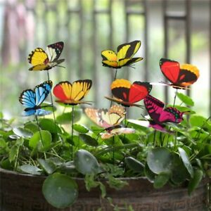 Bunch of Butterfly Home Garden Yard Outdoor Décor Dining Table Stakes Decoration