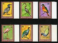 Burundi 1980 Vögel Hornrabe Zwergflamingo Kongopfau A-F 1595 a MNH/ 773 RAR
