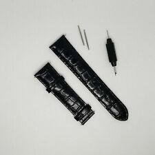 Tissot Visodate Black Croco Leather 20mm Watch Strap