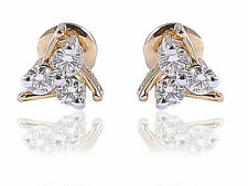 Stunning 0.31 Cts Natural Diamonds Stud Earrings In Solid Certified 18Karat Gold