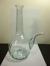 """Vintage mundgeblasenen geripptem Glas italienische Porron/pourron Wein Dekanter 11"""" Tall"""