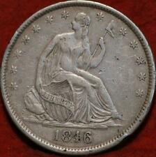 1846-O New Orleans Mint Silver Seated Half Dollar.  LOW SHIPPING!!