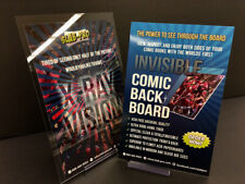 """Invisible Comic Back Board Modern Age 6.75"""" with CLEAR PROTECTIVE MYLAR 10 PACK"""
