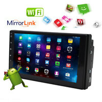 7''Android 6.0 Double 2Din Wifi-4G Autoradio Car GPS Bluetooth Stereo Player USB