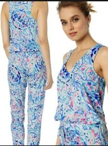 New LILLY PULITZER Paulina Jumpsuit  IN FULL BLOOM  Pants/Top XS Retail $188