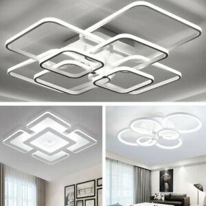 LED Ceiling Light Square/Ring Panel Down Lights Bathroom Kitchen Bedroom  Lamp
