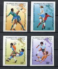 s6256) COMORES 1990 MNH** WC Football'90-CM Calcio 4v IMPERF