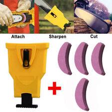 Chainsaw Teeth Sharpener Bar-Mount Chain File Sharpening + 4Pcs Grinding Stone