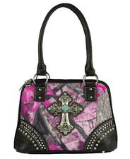 Sassy B Camo Concealed Carry Turquoise Cross Purse CCW Gun Pistol Bling Bag Pink