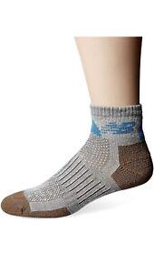 New Balance unisex-adult Elite Nbx Trail Quarter Socks W(6-10) M(7.5-9) G/BL
