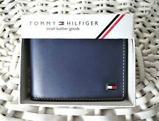 Men's Leather Wallet 'Tommy Hilfiger' Bifold, BLUE, Coin Pouch, MRP $60.00,SALE