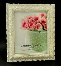 Cynthia Rowley Photo Frame Delicate Lace In Matte Cream Cast Resin 8x10