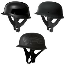 Adult FLY Racing 9mm German Motorcycle Helmet Half Helmet Chopper DOT Approved