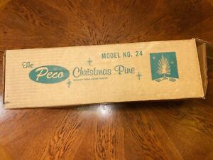 VINTAGE PECO 4 FT ALUMINUM CHRISTMAS TREE - PECO MODEL 24 with 54 Branches