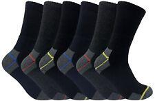 3, 6, 12, 24 Paires Coton Qualite Chaussettes de Travail Lot pour Hommes