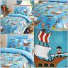 SEA PIRATES Kids Pirate Ship Fun Reversible Duvet Quilt Cover Set Bedding Range