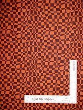 Geometric Wavy Check Brown Cotton Fabric Fabriquilt Fabric Company ~ Half-Yard