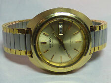 VINTAGE  SEIKO MEN'S  AUTOMATIC  #7006 DAY DATE WATCH - WORKING