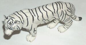 "2006 Safari Ltd Miami 5"" Long 0613 White Bengal Tiger Wild Animal VG Lead Free"