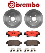 For Toyota Sienna '04-'10 Rear Brake Kit Coated Disc Rotors Ceramic Pads Brembo