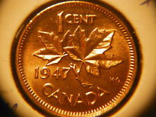 1947 One Cent ***** Blunt 7 No Maple Leaf ***** Red