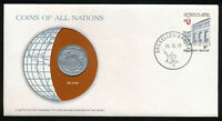 Belgium Coins of All Nations 10 Francs 1976 UNC Coin PNC Cover