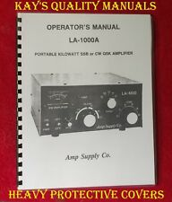 Amp Supply Co LA-1000A Operating Manual ON 32 Lb Paper  ***C-MY OTHER MANUALS***