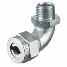 Hubbell Wiring Device-Kellems Nhc1022zp Liquid Tight Connector,1/2In.,90 Deg,Wht